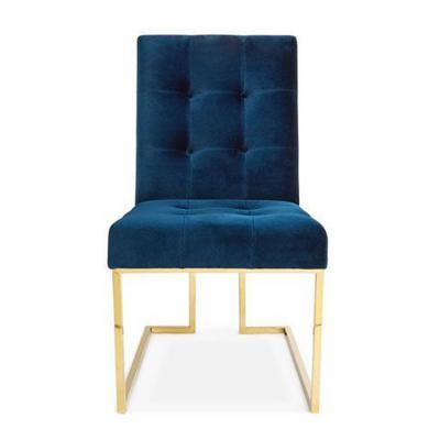 全球高端家具定制欧式简约 电镀餐椅 家用休闲椅 书桌椅大师家具设计网
