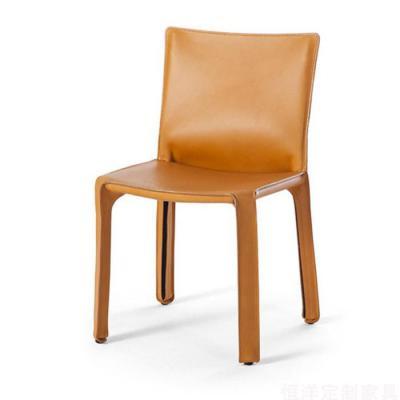 会议休闲餐厅椅 洽谈马鞍皮再生皮硬皮酒店会所样板房会客酒吧椅 马鞍椅马鞍皮 硬皮椅