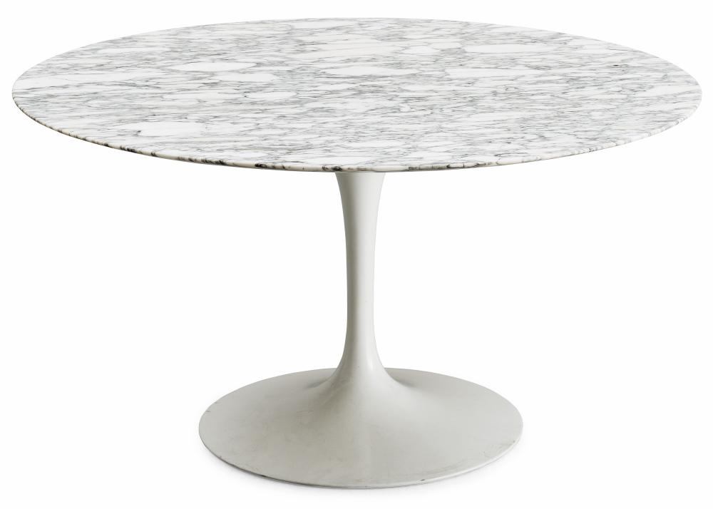五金脚大理石1米直径餐桌 大圆盘脚 坚固稳定压不倒 规格颜色定制 酒店会议餐厅 办公桌