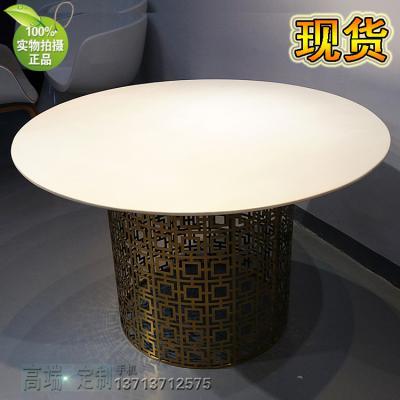 [有货]Table 尼克松餐桌台咖啡桌 金色不锈钢 时尚餐桌 展示会展议酒店