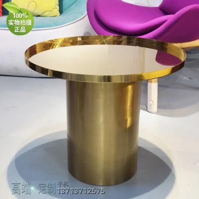 五金不锈钢电镀镜面拉丝圆柱茶几边几角几金铜色 规格颜色可定制