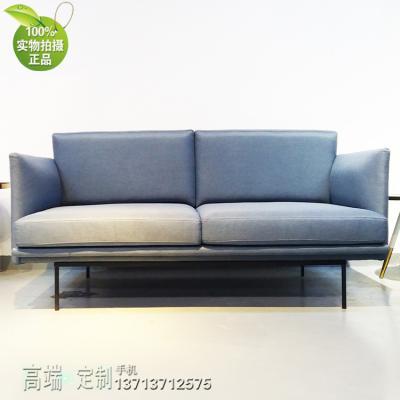丹麦设计师双人沙发 三人位简约现代办公室沙发 接待会客商务休闲