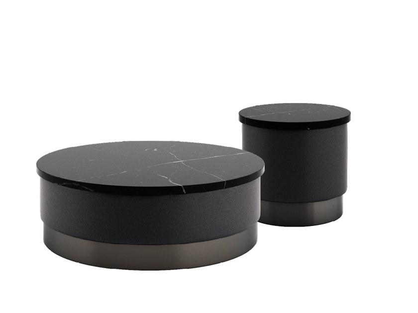 2018年新品 软包茶几大全 皮革布艺茶几凳子椅子 Tacchini PASTILLES Round marble coffee table by Studiopepe