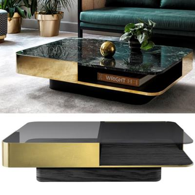 中式方正茶几大全方形 RED EDITION Marble coffee table for living room客厅酒店会所