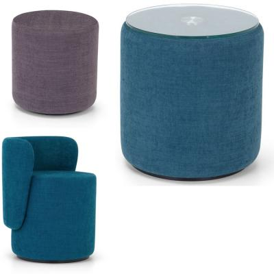茶几椅子凳子墩榻Adrenalina BOLL Upholstered fabric pouf  by Simone Micheli
