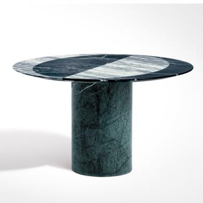 2018年新品 圆咖啡桌PROIEZIONI Round marble side table 大理石多色彩色茶几