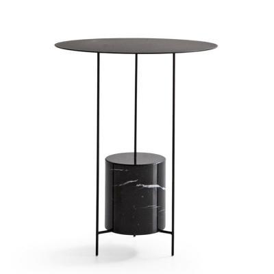 五金铁艺烤漆不锈钢电镀大理石压脚压底平衡茶几边几角几COTTA Round marble coffee table