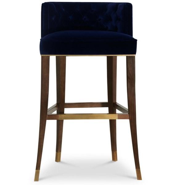 波旁王朝皇室豪华路易十四吧椅 中式高脚椅BRABBU BOURBON  Tufted velvet stool