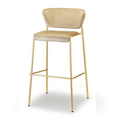 五金铁烤漆不锈钢电镀弯板软包 高脚吧椅 SCAB DESIGN LISA  High stool  Marcello Ziliani