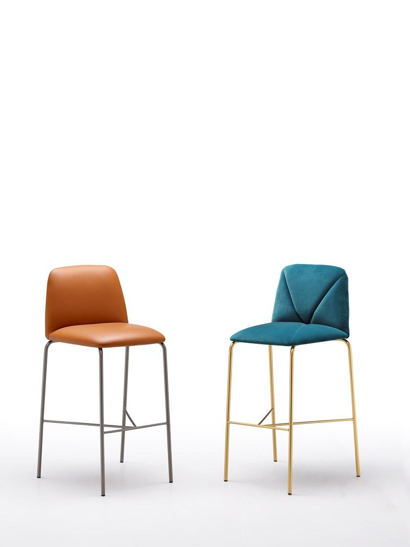 不锈钢脚实木脚五金软包吧椅 Ronda Design MANTRA  Leather stool  高脚椅