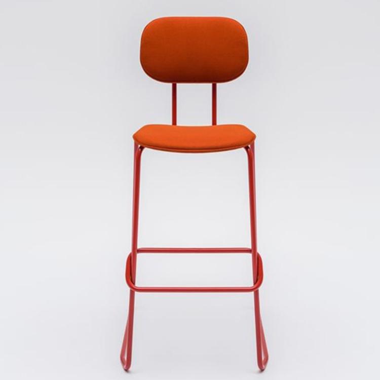 学堂高雪橇底布凳新学校布凳MDD NEW SCHOOL  Fabric stool High stool 五金吧椅高脚椅