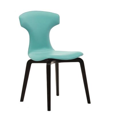 走在时尚最前沿 意大利设计皮质餐椅创意设计师书椅儿童房电脑椅 超薄双色