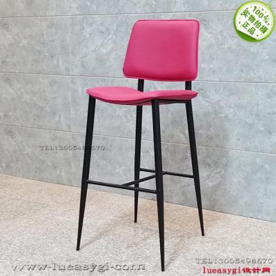 2018年新款上市新品 娃娃弯北布艺五金高脚吧椅 软垫金属凳子Billiani DOLL  Metal stool  Emilio Nanni