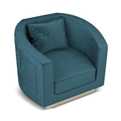 现代扶手椅 黛比·雷诺兹 魅力家具 Ottiu DEBBIE Armchair 半方 半圆形复古休闲椅