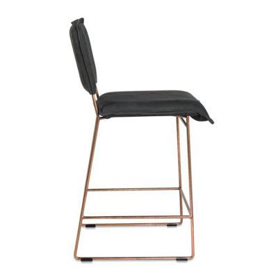 不锈钢电镀铜色高脚吧椅 Jess Design NEWTON  High stool 雪橇座凳