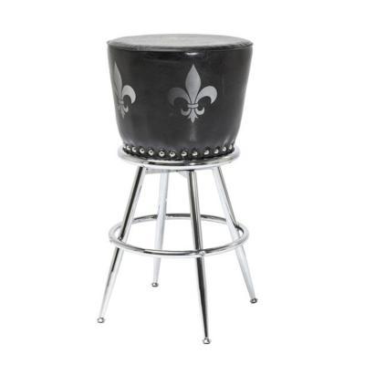 酋长吧椅非洲部落家具 鼓椅不锈钢铜色 KARE-DESIGN ROCKSTAR Barstool
