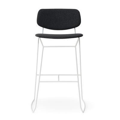 2018年新品新款 简洁餐椅吧椅 五金不锈钢铁烤漆格子弯板 曲木 Billiani DOLL  Metal stool Emilio Nanni