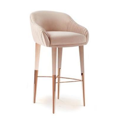 Duquesa系列餐椅沙发 休闲椅 2016新品上市 不锈钢双色电镀金色脚 Duquesa & Malvada KATE Barstool 绒布特效处理高脚吧椅
