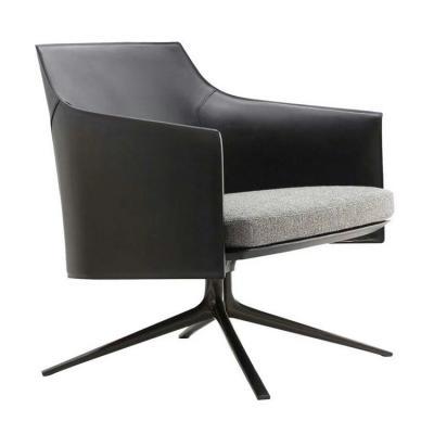 意式极简轻奢 小型休闲椅 玻璃钢内架+海绵 异形脚 会所斯坦福椅 北欧名椅餐椅低背高背