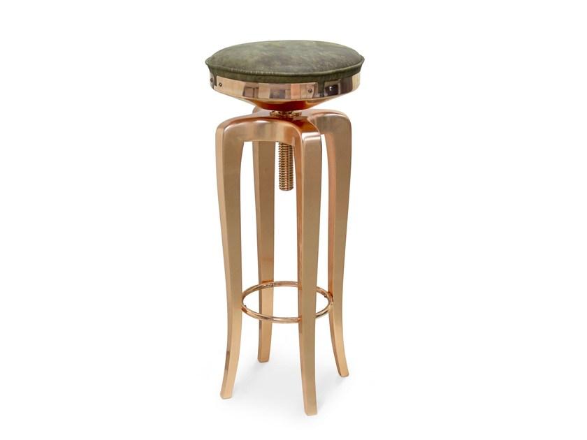 国际设计师家具作品 BRABBU 莫霍克 钻石店金店首饰店 螺丝螺杆不锈钢电镀高脚吧椅