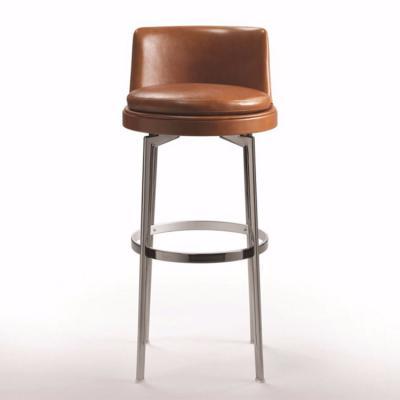 新中式国际北欧设计师作品 不锈钢家具吧椅高脚椅子 FLEXFORM FEEL GOOD Stool  Antonio Citterio