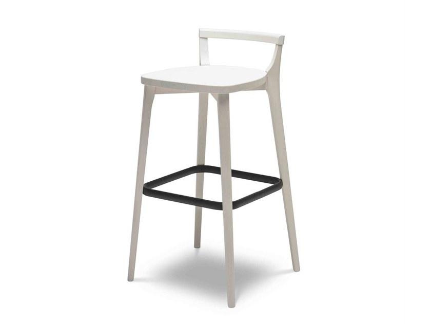 新中式家具 简洁 实木五金软包吧椅 酒店会所前台 Origins 1971 METRO 161 High  stool