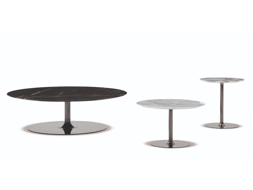 餐椅茶几系列: 2018年新款大理石不锈钢电镀Minotti OLIVER LOUNGE Table Rodolfo Dordoni