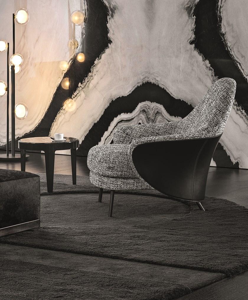 2019年国际大牌上市 Minotti ANGIE Fabric armchair  异形休闲椅安吉扶手椅 酒店会所办公家具椅子