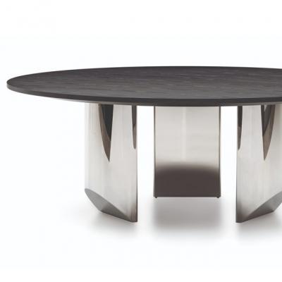 设计师Nendo 2019年新款新品 桌子系列 Minotti 楔形|圆桌 圆形大理石客厅酒店会所