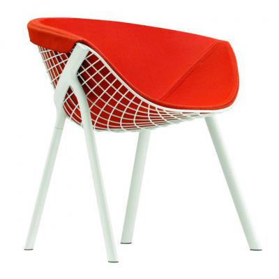 铁烤漆网椅不锈钢电镀网状椅Kobi Chair by Patrick Norguet and Alias