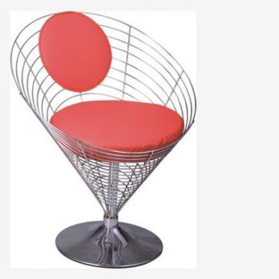 不锈钢网椅 户外休闲椎形铁线椅lueasygi Chair丹麦设计师潘顿 美容美甲别墅商务颜色