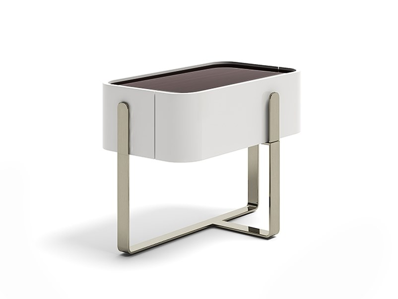 2019年新品 EDEN 床头柜 带抽屉 BOATTOMARTINOstudio设计304不锈钢实心框架 皮质软包
