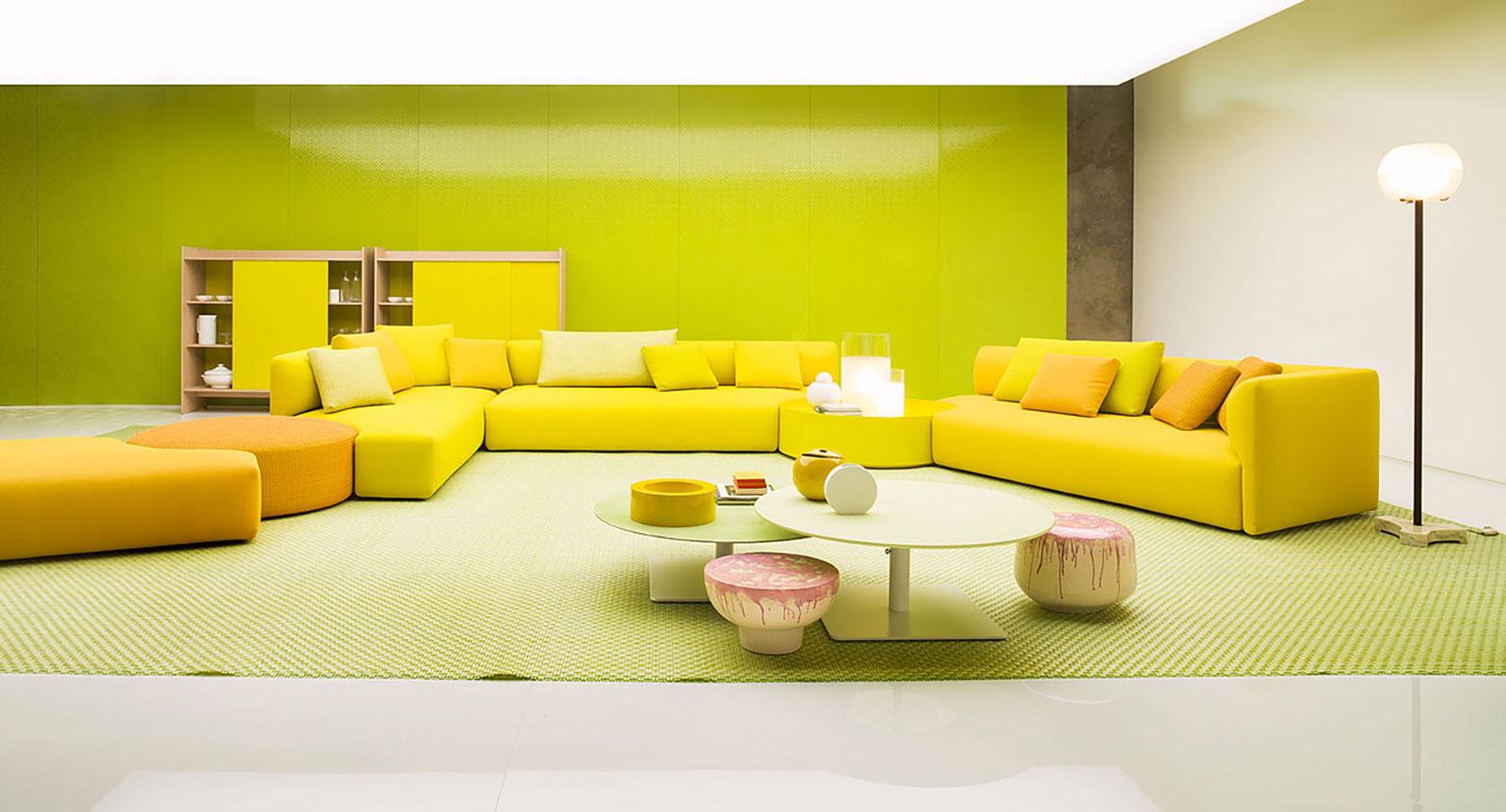 2019年国际新款 组合沙发 布艺皮质定制沙发paola lenti WALT Modular fabric sofa