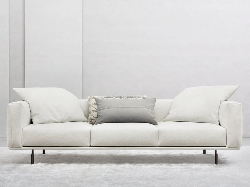 2019年新款宾纳里奥 Flou BINARIO sofa双人多人沙发 绒布仿水布西皮铁烤脚不锈钢枪黑电镀
