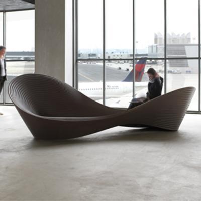 Ron Arad Folly bench Magis客运站 机场等候休闲沙发 户外玻璃钢