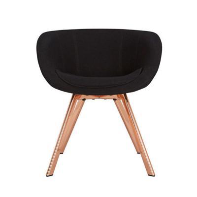 Scoop Low Copper Chair 北欧风格餐椅 设计师休闲椅 玻璃钢黑色
