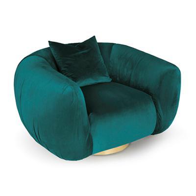 腹部肚子子宫沙发不锈钢电镀金色钛金五金弧形 弧度沙发椅子单人位
