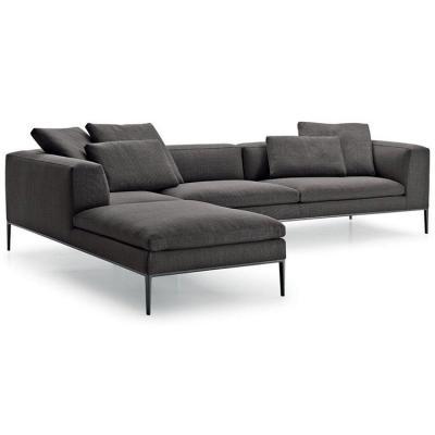 大牌沙发 B&B Italia Michel Corner Sofa by Antonio Citterio  Chaplins5 chaplins 五金不锈钢底架