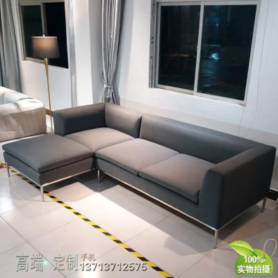 大牌意大利北欧设计师沙发 Sofa 异形锥形脚架 铁烤漆不锈钢电镀