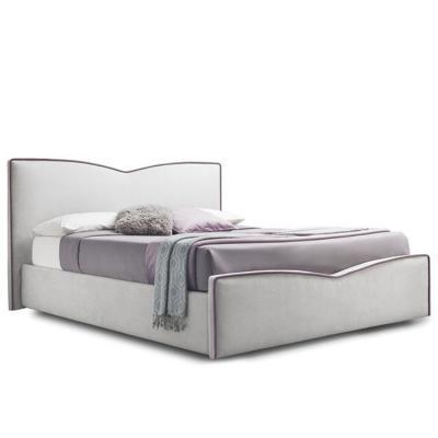 猫属梅根床彩色装饰女性空间床铺 外国品牌设计师床铺紫色布艺条