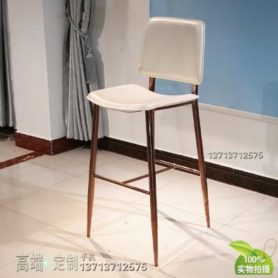 实物现货 不锈钢电镀玫瑰金古铜色 异形吧椅 方向座垫 西皮实体展厅