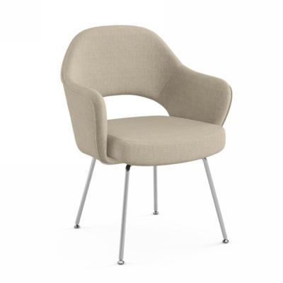 创意软包布艺餐椅沙里宁Saarinen Executive Chair酒店会所会客休闲椅