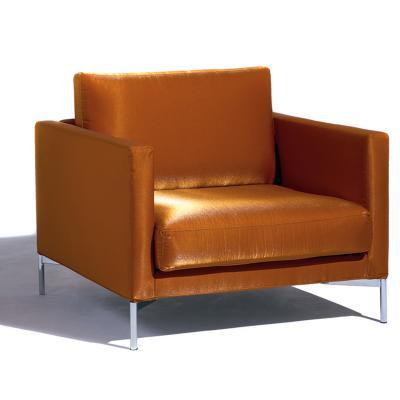 意大利 皮埃尔• 里梭尼长诗标准单人拉沙发椅布艺革超纤皮真皮定制小户型样品沙发