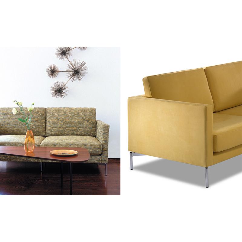 意大利 皮埃尔• 里梭尼长诗长椅双人位沙发椅布艺革超纤皮真皮定制小户型样品沙发
