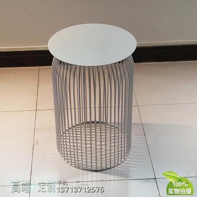 铁烤漆黑白色茶几 规格可定制 边几角几餐桌五金不锈钢电镀家具定制