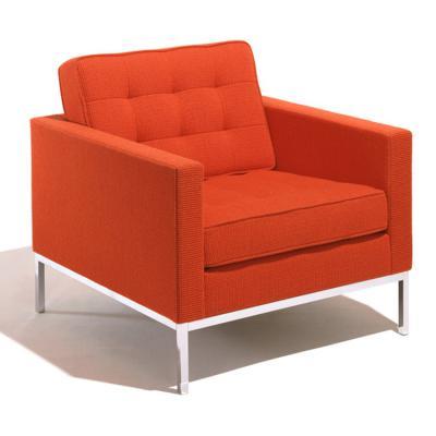 美国弗洛伦斯·诺尔 躺椅 沙发办公室具不锈钢铁烤漆脚架软包布艺皮革真皮沙发