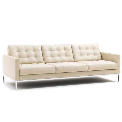 美国弗洛伦斯·诺尔 多人位三人位沙发办公室具不锈钢铁烤漆脚架软包布艺皮革真皮沙发