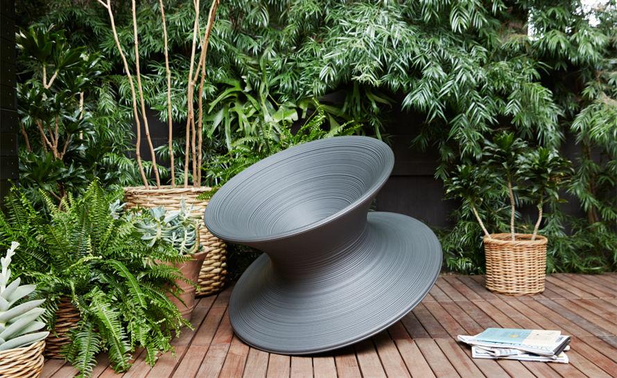 玻璃钢铊锣椅 魔法师旋转椅子托马斯·赫斯维克 雕塑圆圈旋转椅子室内外摇滚椅