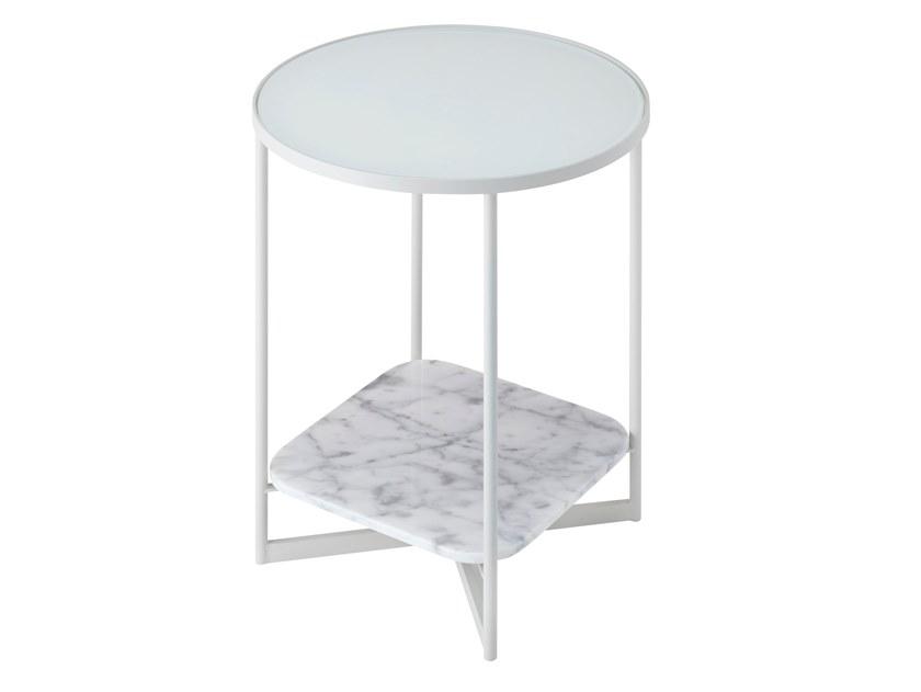 蒂姆梯级 2017设计 茶几连体 圆形方形组合茶几边几大理石玻璃钢框架五金铁烤漆不锈钢电镀 咖啡床头几