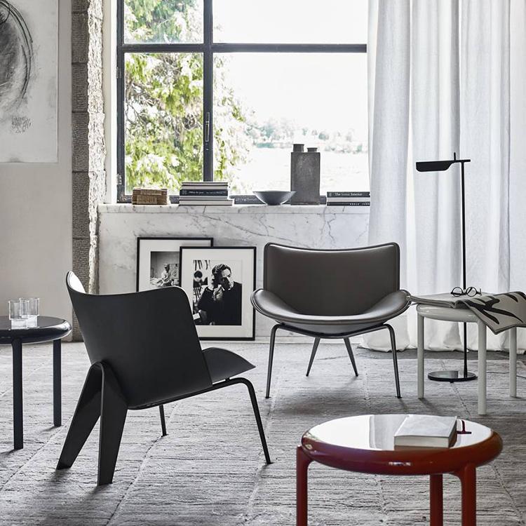 颜色面料可定制家具 玻璃钢粽子椅北欧设计师单人靠背扶手休闲椅 咖啡厅椅